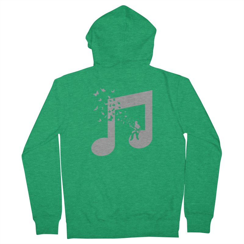 Bass Guitar Butterfly Men's Zip-Up Hoody by barmalisiRTB