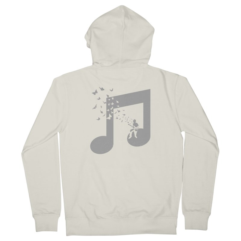 Bass Guitar Butterfly Men's French Terry Zip-Up Hoody by barmalisiRTB