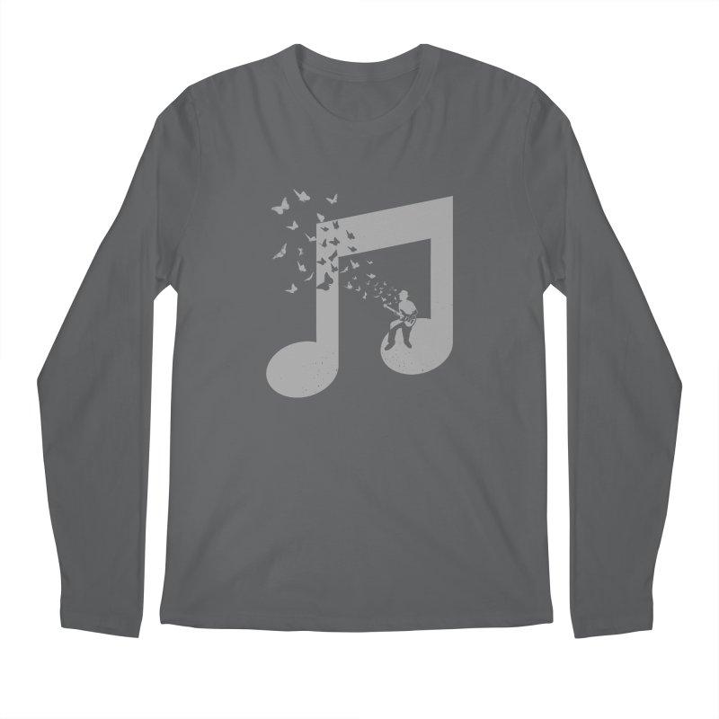 Bass Guitar Butterfly Men's Regular Longsleeve T-Shirt by barmalisiRTB