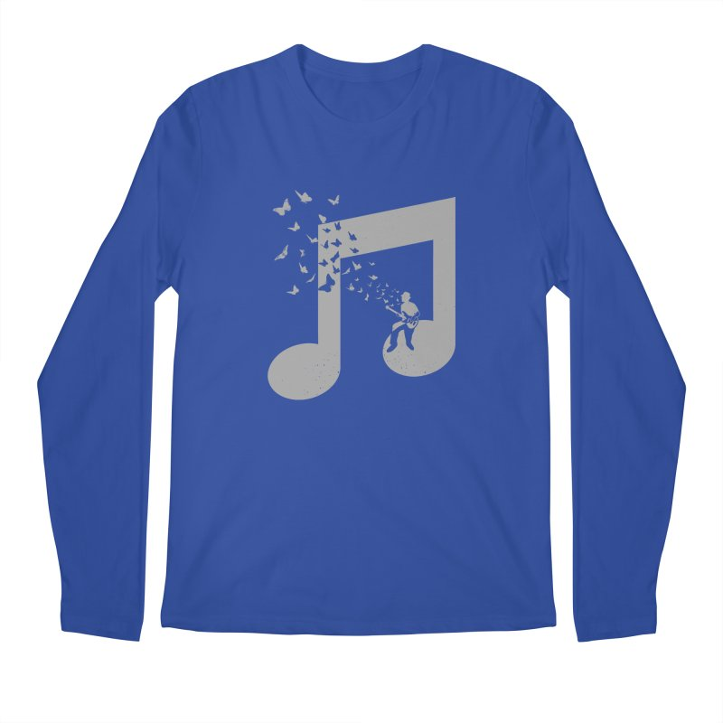 Bass Guitar Butterfly Men's Regular Longsleeve T-Shirt by barmalisiRTB