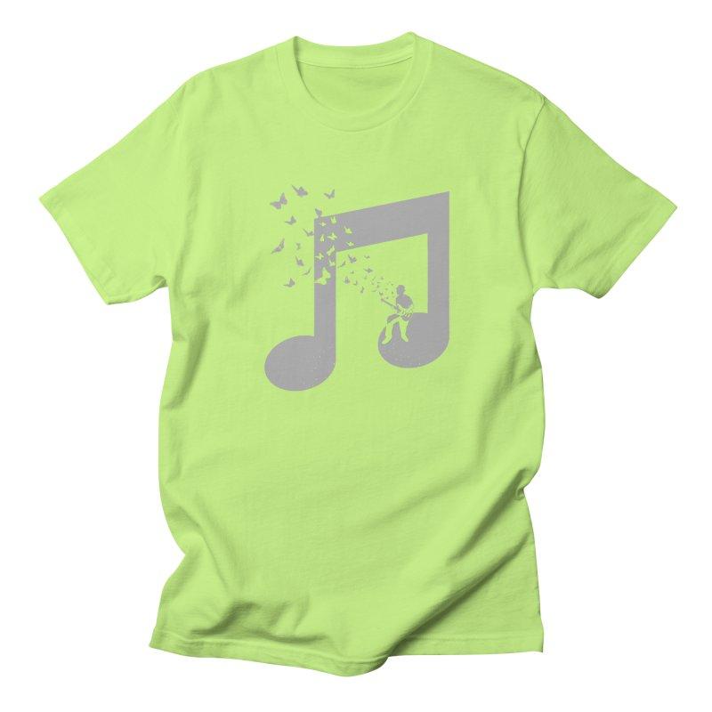 Bass Guitar Butterfly Men's Regular T-Shirt by barmalisiRTB
