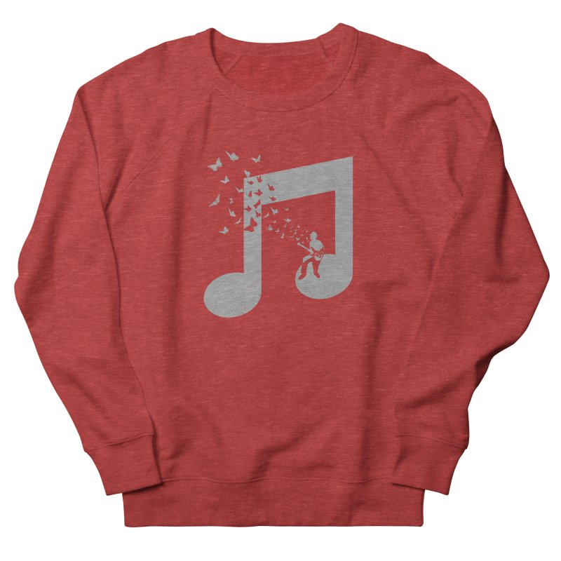 Bass Guitar Butterfly Women's French Terry Sweatshirt by barmalisiRTB
