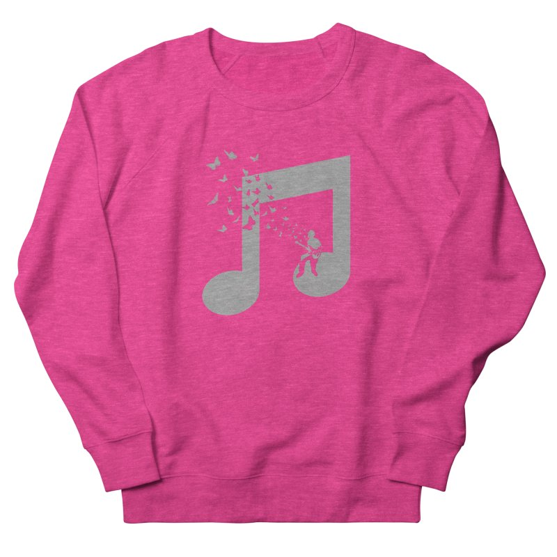 Bass Guitar Butterfly Men's French Terry Sweatshirt by barmalisiRTB