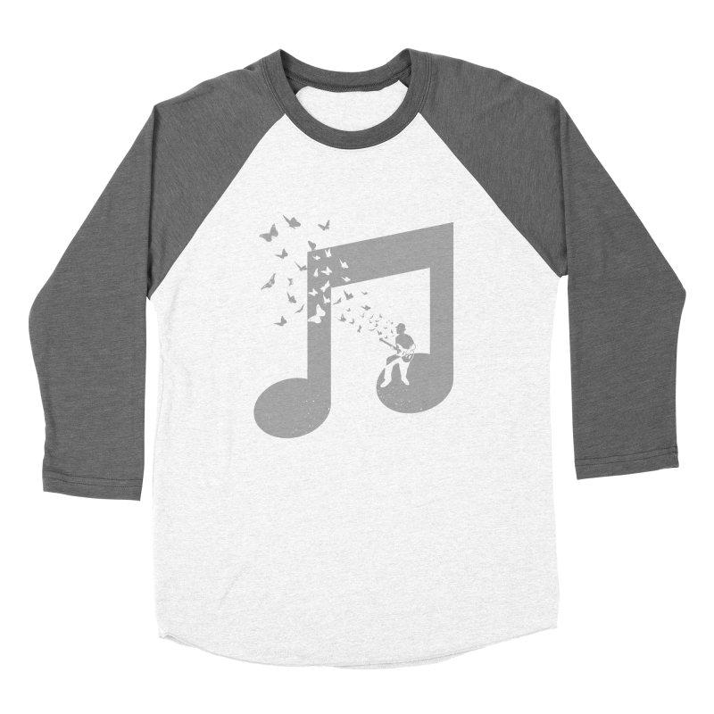 Bass Guitar Butterfly Women's Baseball Triblend Longsleeve T-Shirt by barmalisiRTB