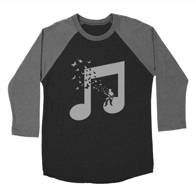 Bass Guitar Butterfly Men's Baseball Triblend Longsleeve T-Shirt by barmalisiRTB