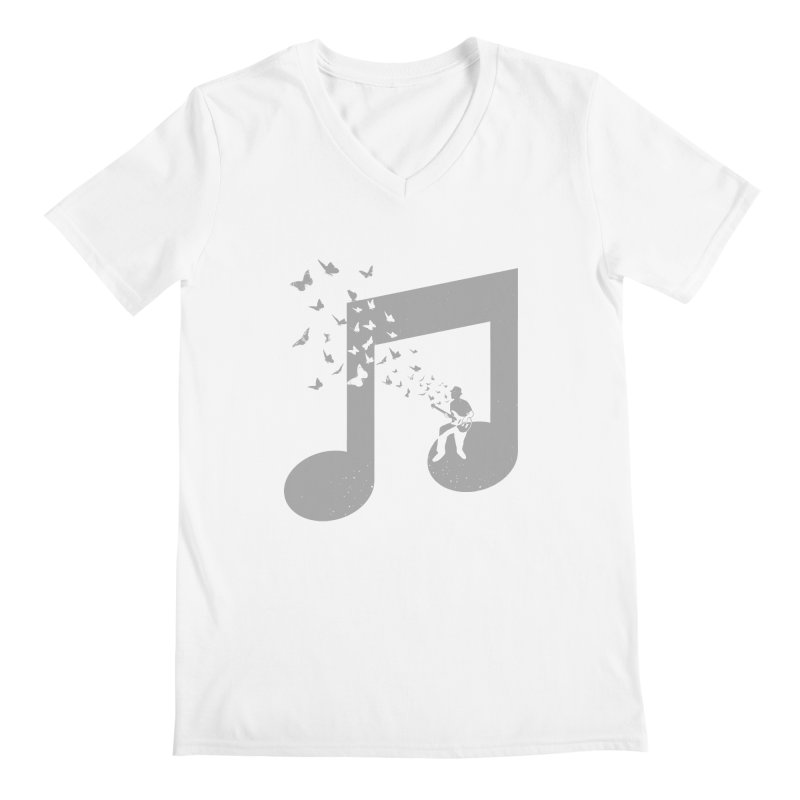 Bass Guitar Butterfly Men's V-Neck by barmalisiRTB