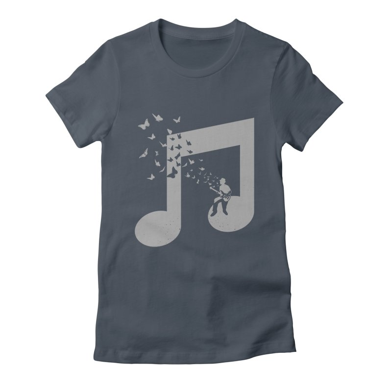 Bass Guitar Butterfly Women's T-Shirt by barmalisiRTB