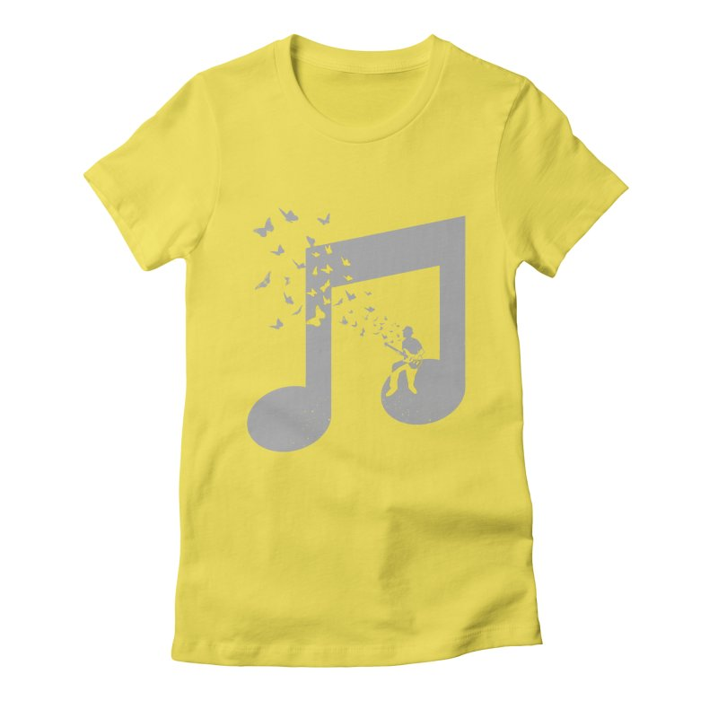 Bass Guitar Butterfly Women's Fitted T-Shirt by barmalisiRTB