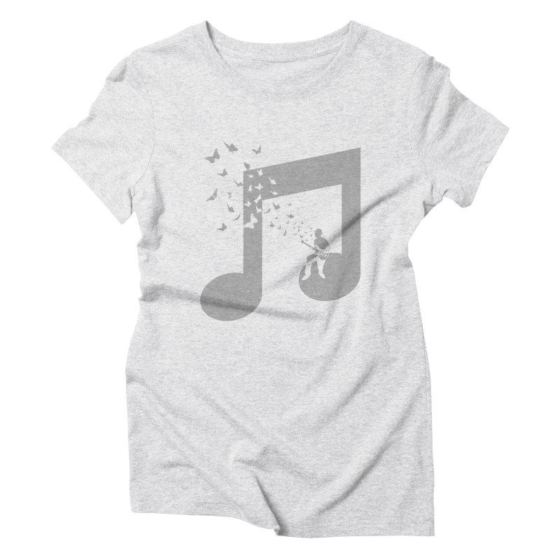 Bass Guitar Butterfly Women's Triblend T-Shirt by barmalisiRTB