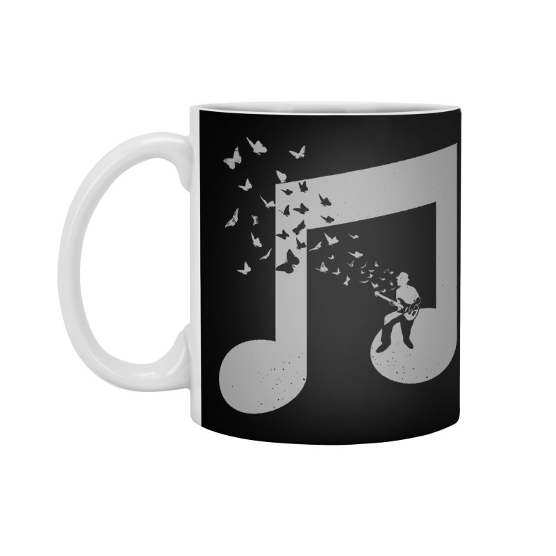 Bass Guitar Butterfly Accessories Standard Mug by barmalisiRTB