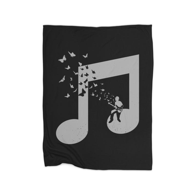Bass Guitar Butterfly Home Fleece Blanket Blanket by barmalisiRTB