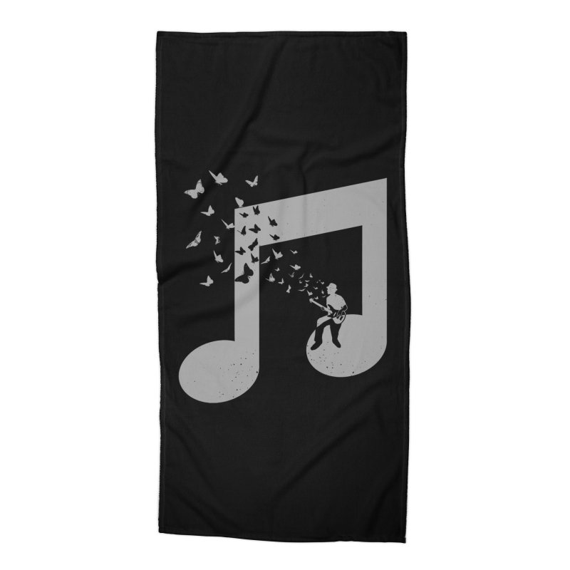 Bass Guitar Butterfly Accessories Beach Towel by barmalisiRTB