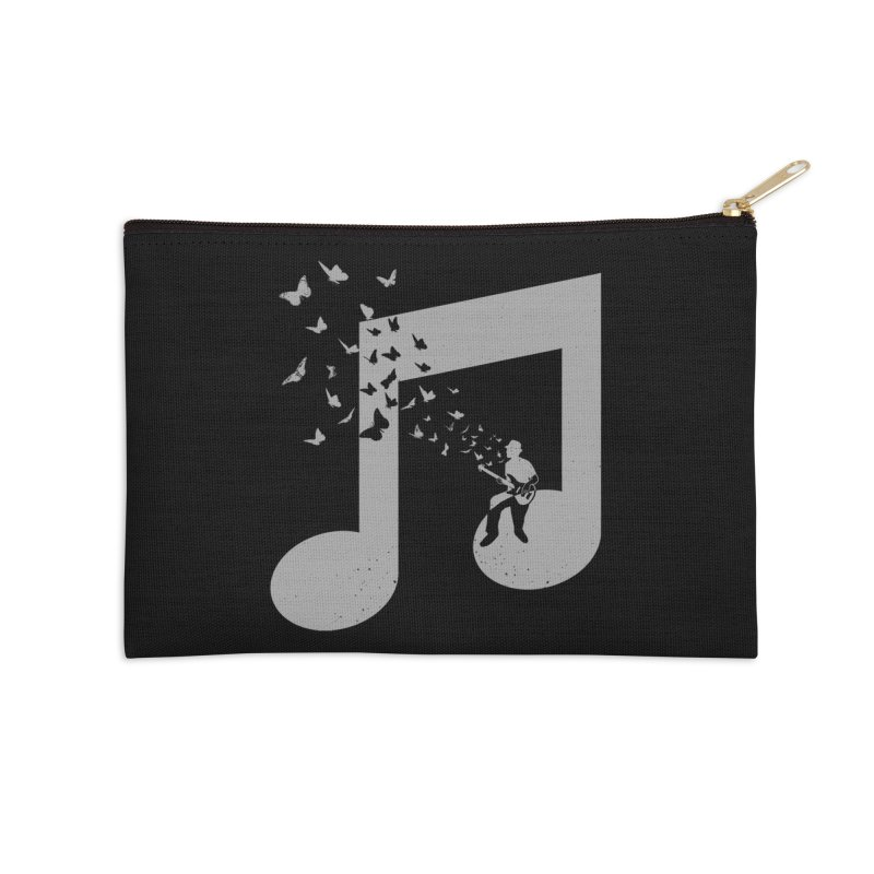 Bass Guitar Butterfly Accessories Zip Pouch by barmalisiRTB