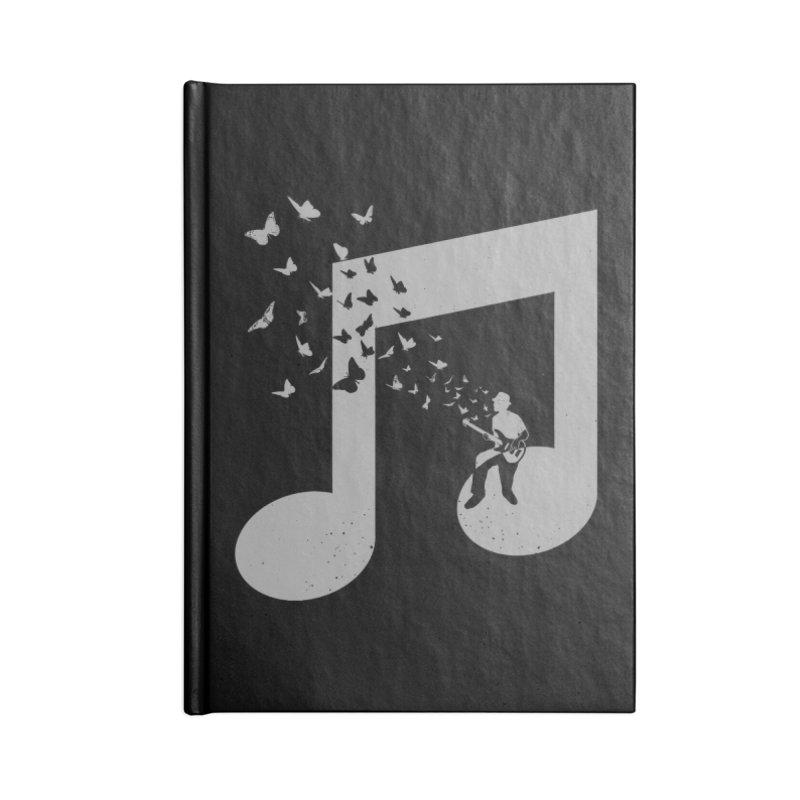 Bass Guitar Butterfly Accessories Blank Journal Notebook by barmalisiRTB