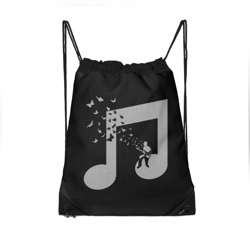 Bass Guitar Butterfly Accessories Drawstring Bag Bag by barmalisiRTB