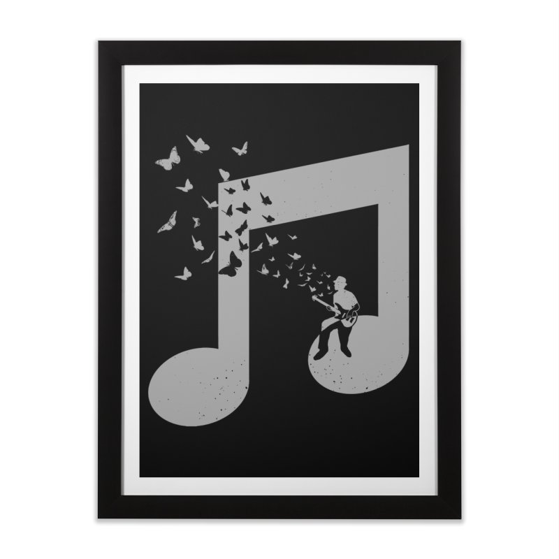 Bass Guitar Butterfly Home Framed Fine Art Print by barmalisiRTB
