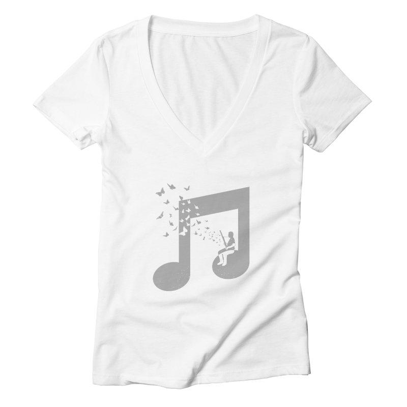 Bassoon Music Women's Deep V-Neck V-Neck by barmalisiRTB