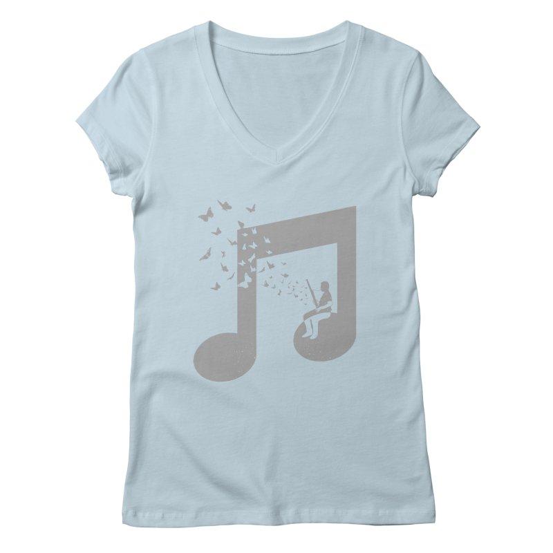 Bassoon Music Women's Regular V-Neck by barmalisiRTB