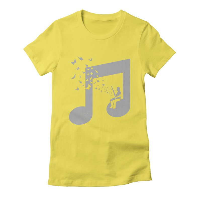 Bassoon Music Women's Fitted T-Shirt by barmalisiRTB
