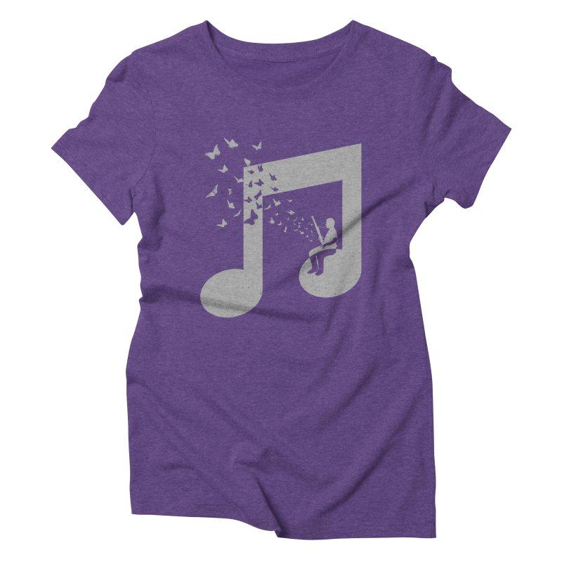 Bassoon Music Women's Triblend T-Shirt by barmalisiRTB
