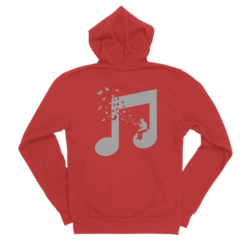 Bugle Music Women's Sponge Fleece Zip-Up Hoody by barmalisiRTB