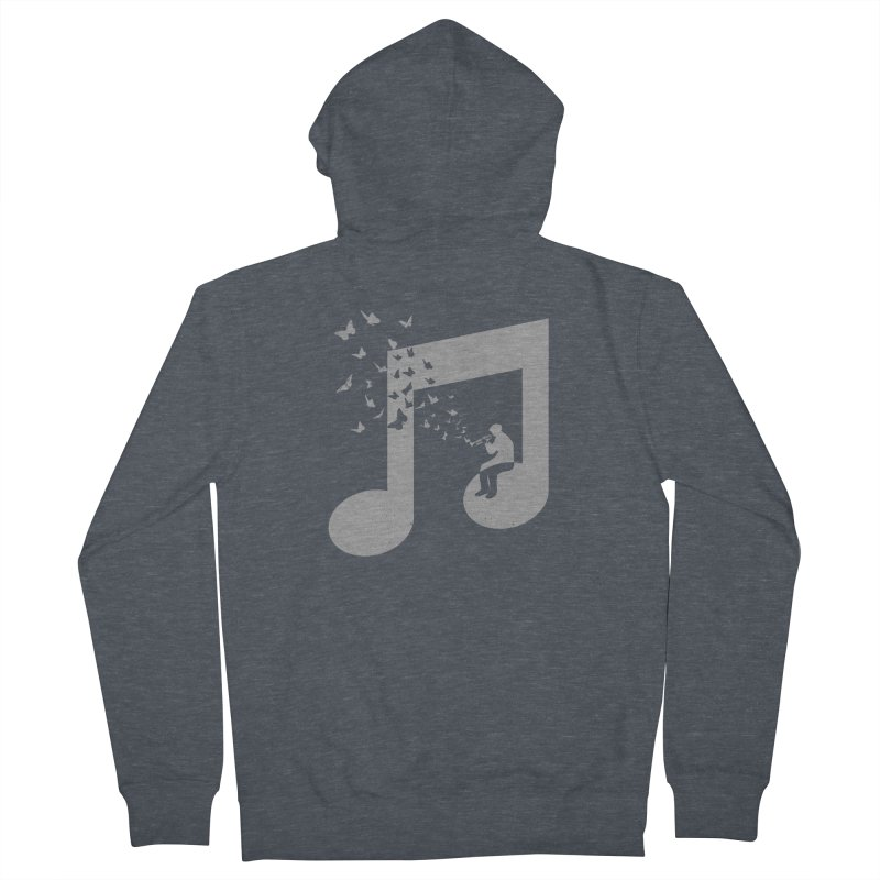 Bugle Music Men's French Terry Zip-Up Hoody by barmalisiRTB