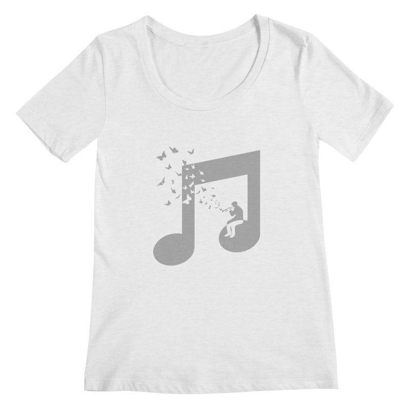 Bugle Music Women's Regular Scoop Neck by barmalisiRTB
