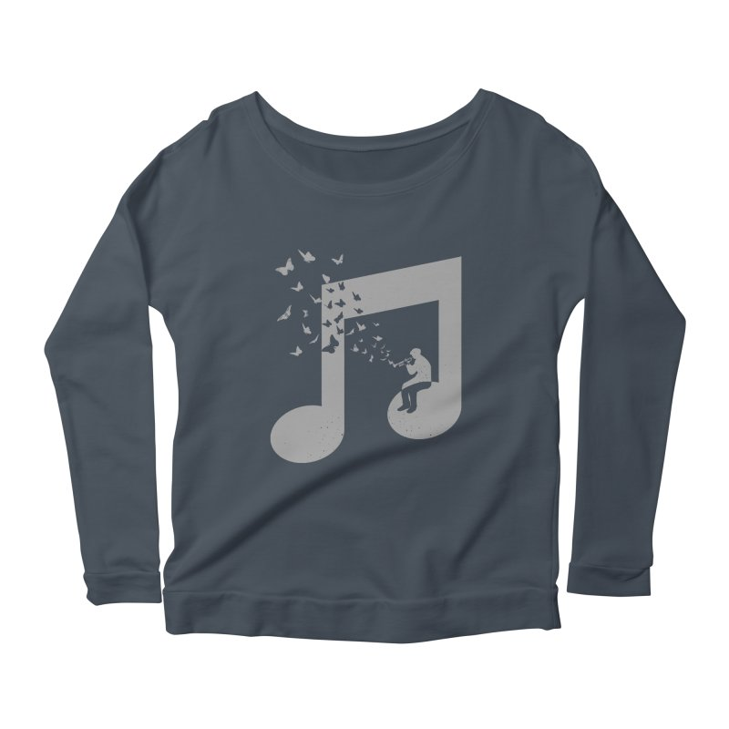 Bugle Music Women's Scoop Neck Longsleeve T-Shirt by barmalisiRTB
