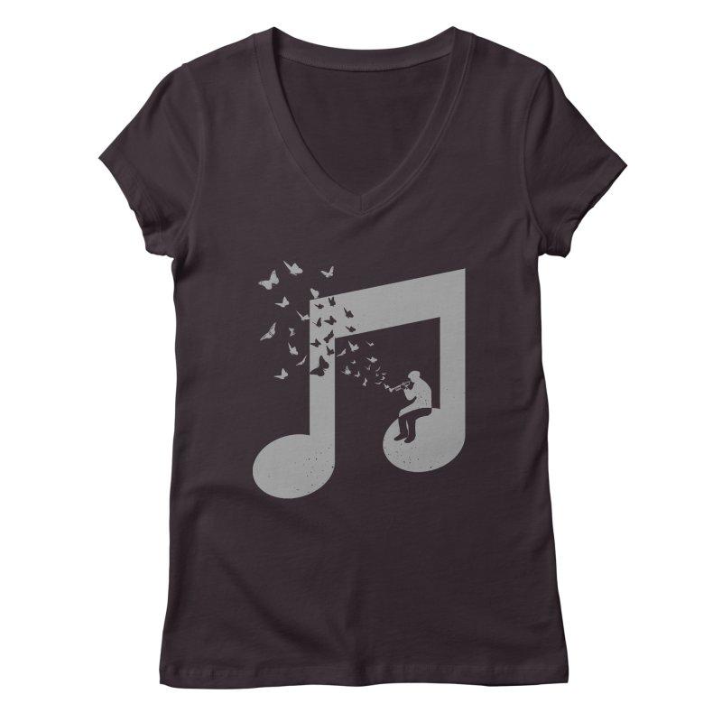 Bugle Music Women's Regular V-Neck by barmalisiRTB