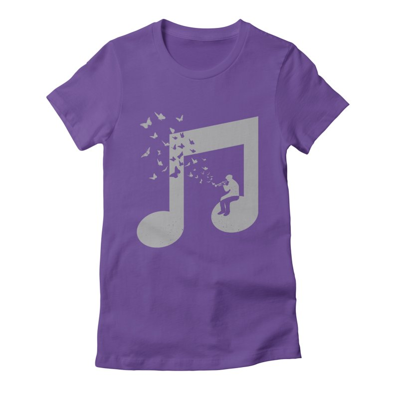 Bugle Music Women's Fitted T-Shirt by barmalisiRTB
