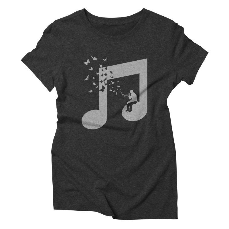 Bugle Music Women's Triblend T-Shirt by barmalisiRTB