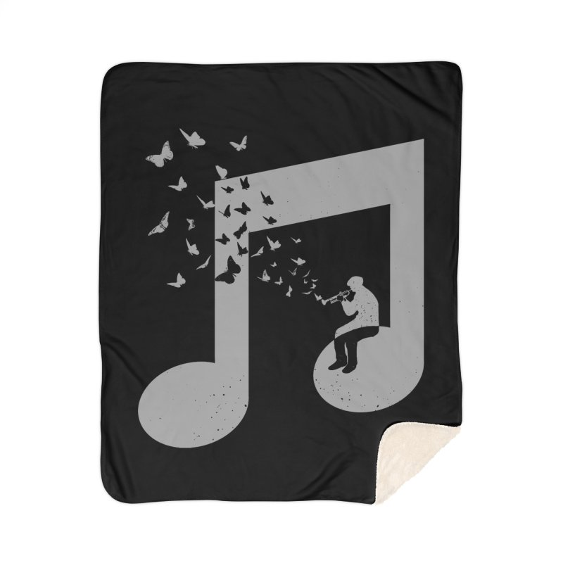 Bugle Music Home Sherpa Blanket Blanket by barmalisiRTB
