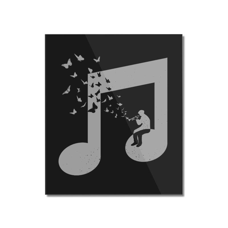 Bugle Music Home Mounted Acrylic Print by barmalisiRTB