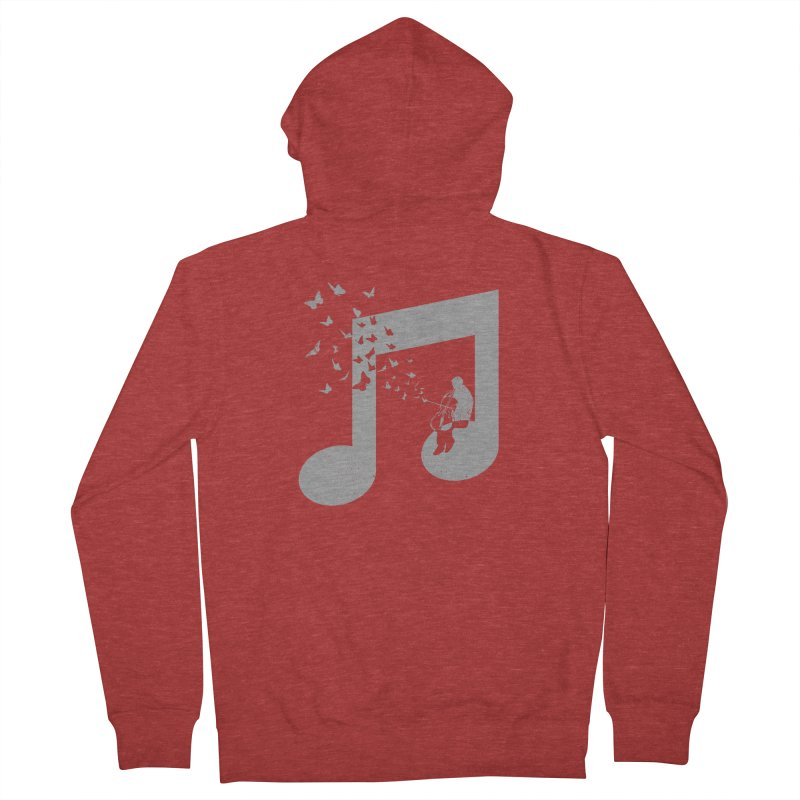 Cello Music Men's French Terry Zip-Up Hoody by barmalisiRTB