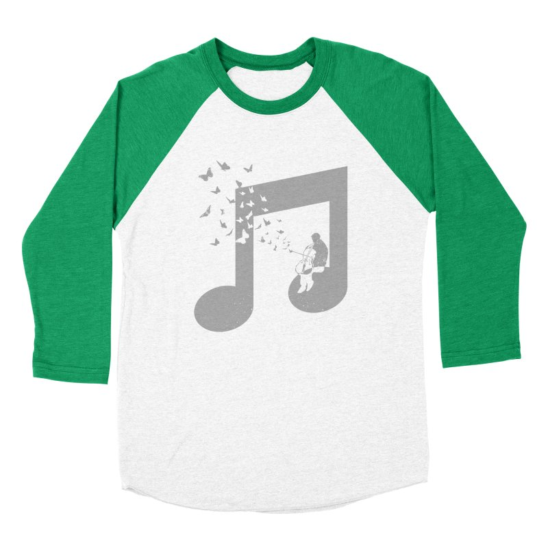 Cello Music Men's Baseball Triblend Longsleeve T-Shirt by barmalisiRTB