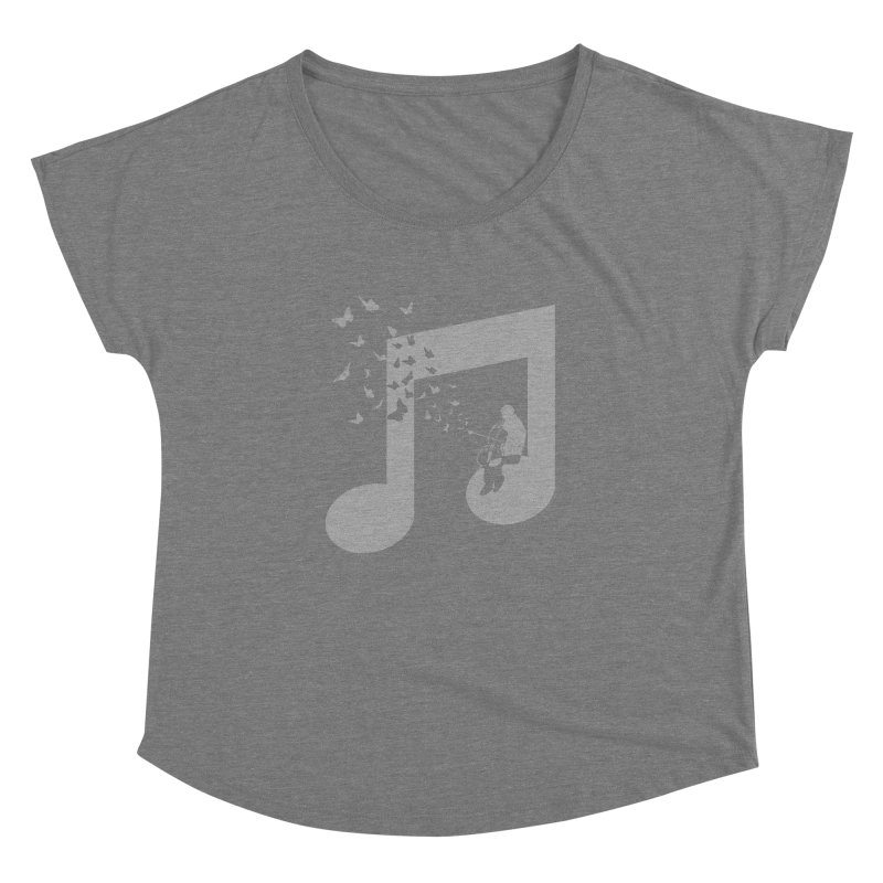 Cello Music Women's Dolman Scoop Neck by barmalisiRTB