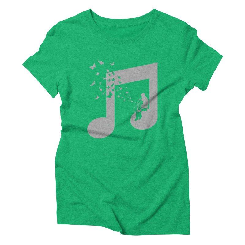 Cello Music Women's Triblend T-Shirt by barmalisiRTB