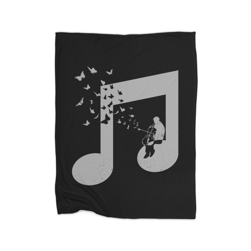 Cello Music Home Fleece Blanket Blanket by barmalisiRTB