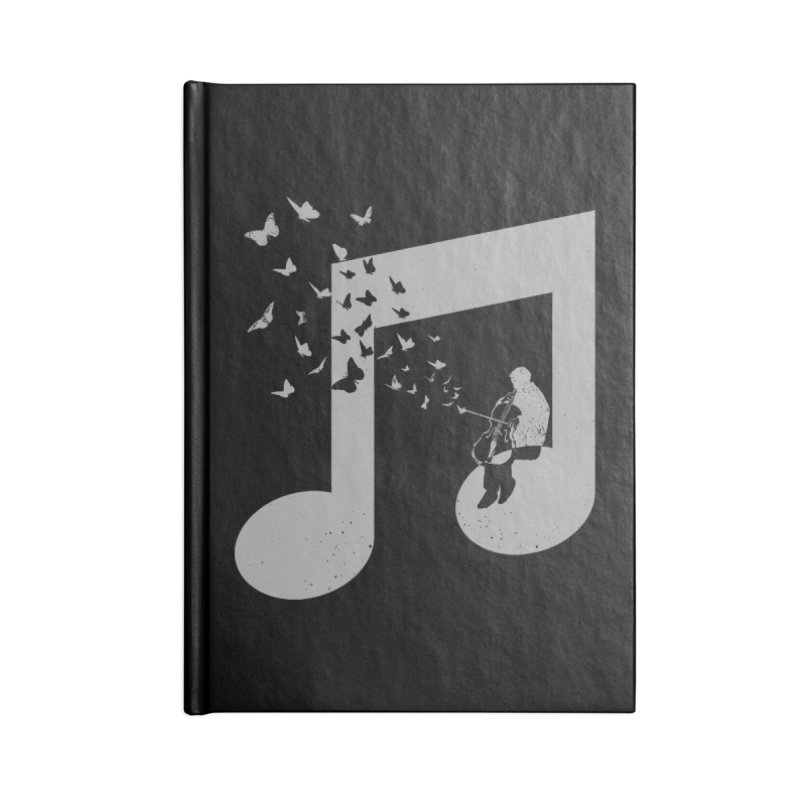 Cello Music Accessories Blank Journal Notebook by barmalisiRTB