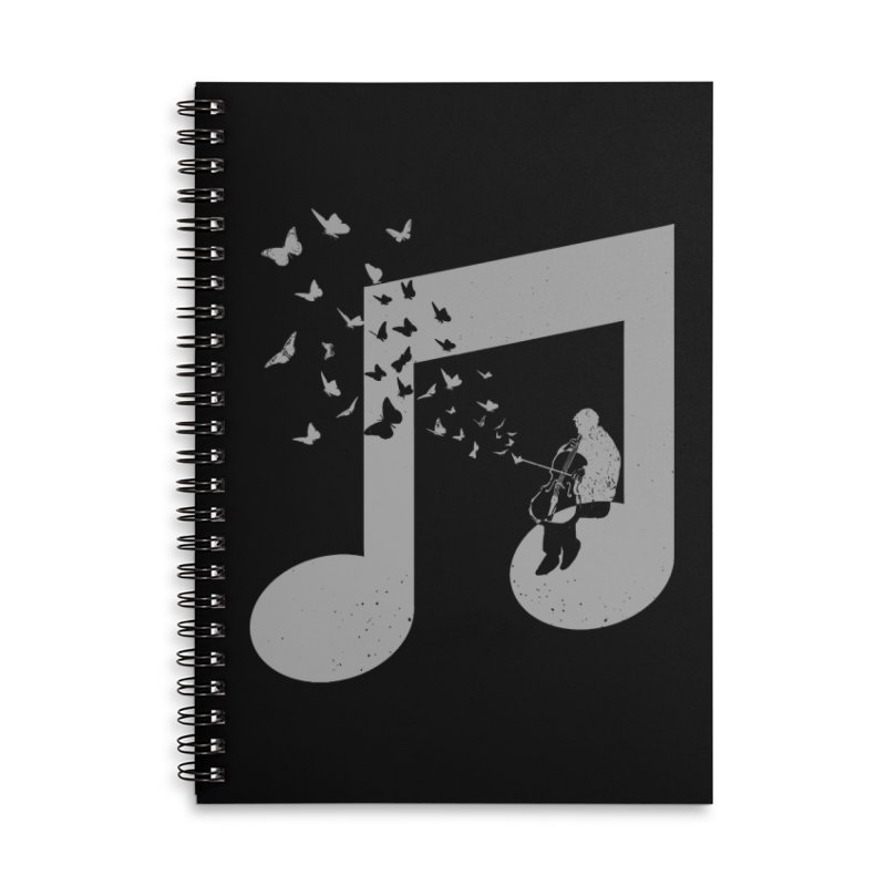 Cello Music Accessories Lined Spiral Notebook by barmalisiRTB