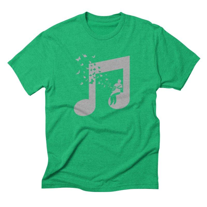 Cigar Box Guitar Music Men's Triblend T-Shirt by barmalisiRTB