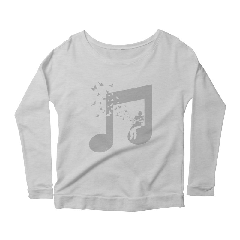 Cigar Box Guitar Music Women's Scoop Neck Longsleeve T-Shirt by barmalisiRTB
