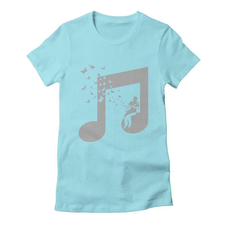Cigar Box Guitar Music Women's Fitted T-Shirt by barmalisiRTB