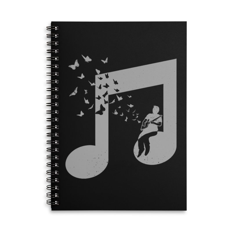 Cigar Box Guitar Music Accessories Lined Spiral Notebook by barmalisiRTB