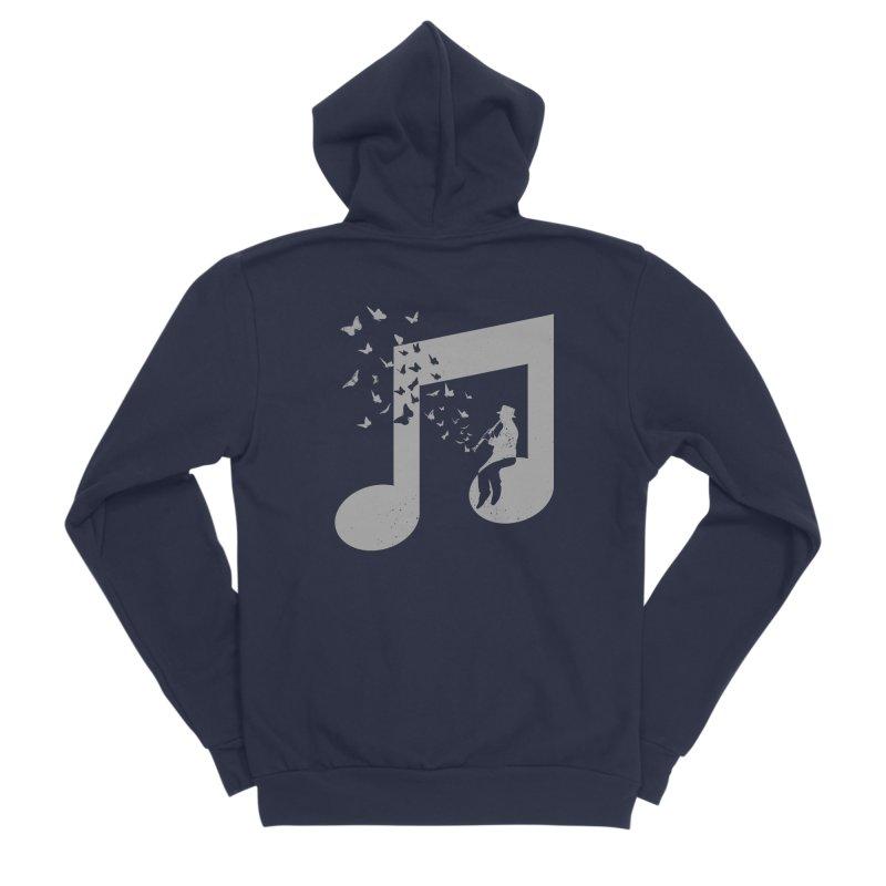 Clarinet Music Men's Sponge Fleece Zip-Up Hoody by barmalisiRTB
