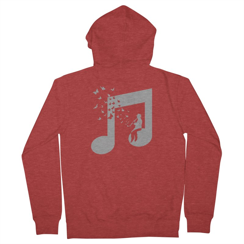 Clarinet Music Men's French Terry Zip-Up Hoody by barmalisiRTB