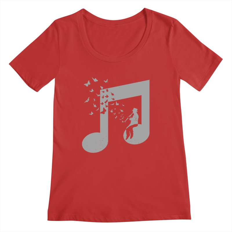 Clarinet Music Women's Regular Scoop Neck by barmalisiRTB