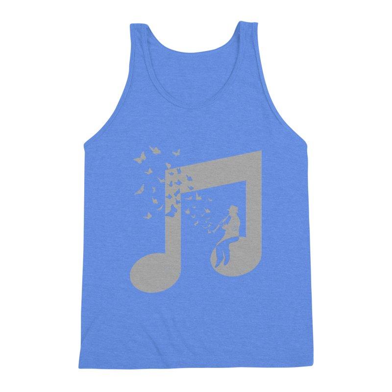 Clarinet Music Men's Triblend Tank by barmalisiRTB