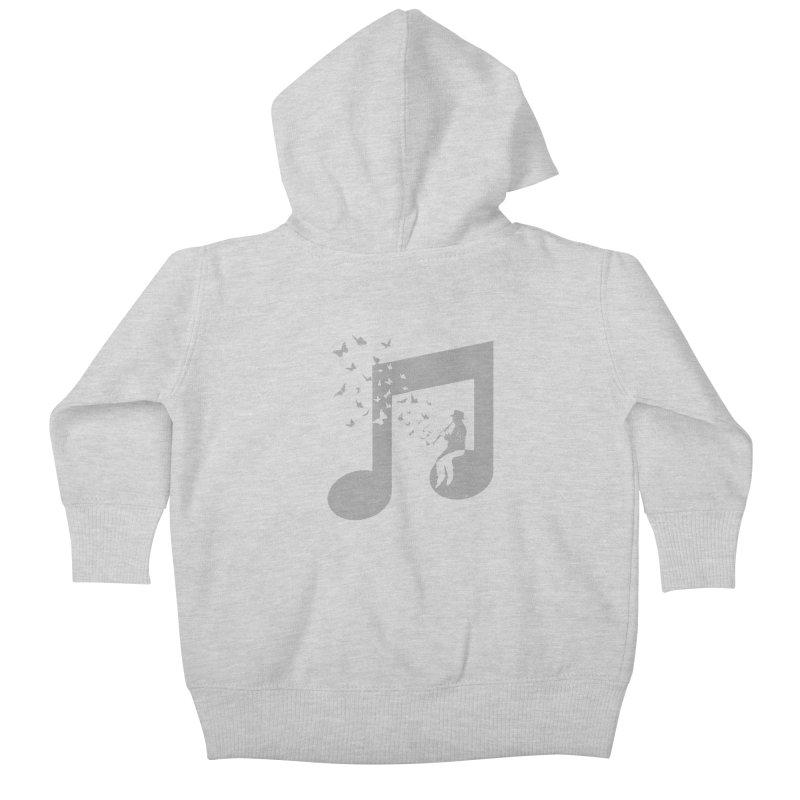 Clarinet Music Kids Baby Zip-Up Hoody by barmalisiRTB