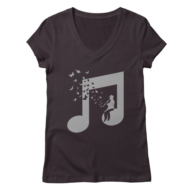 Clarinet Music Women's Regular V-Neck by barmalisiRTB